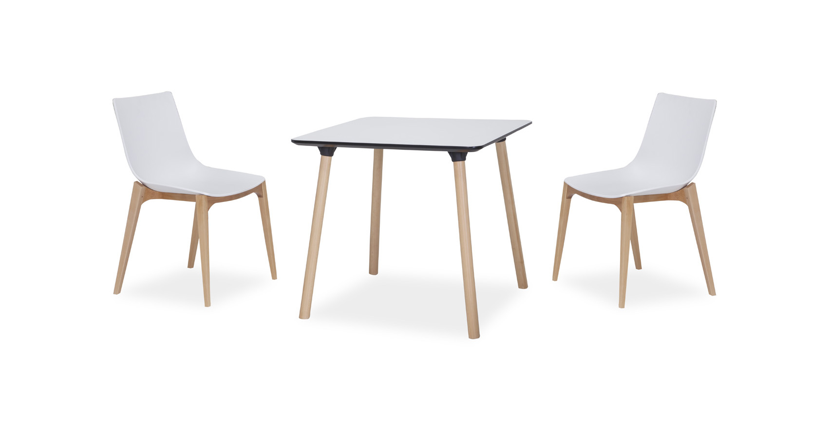 Enzo Cafe Table White wih Zorro chairs