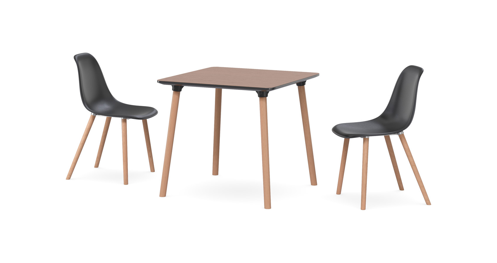 Enzo Cafe Table Woodgrain with Inc chairs