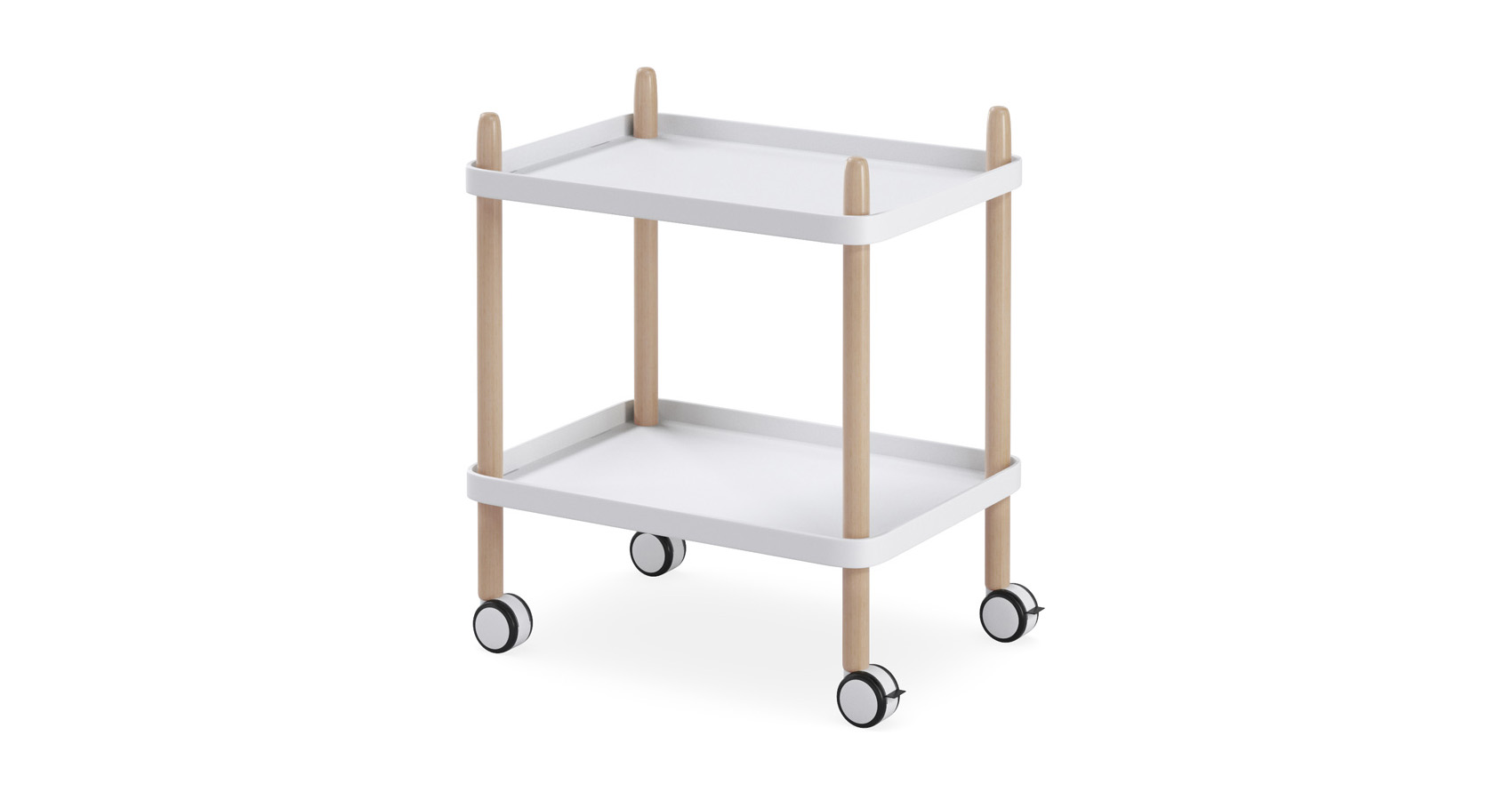Enzo Trolley White