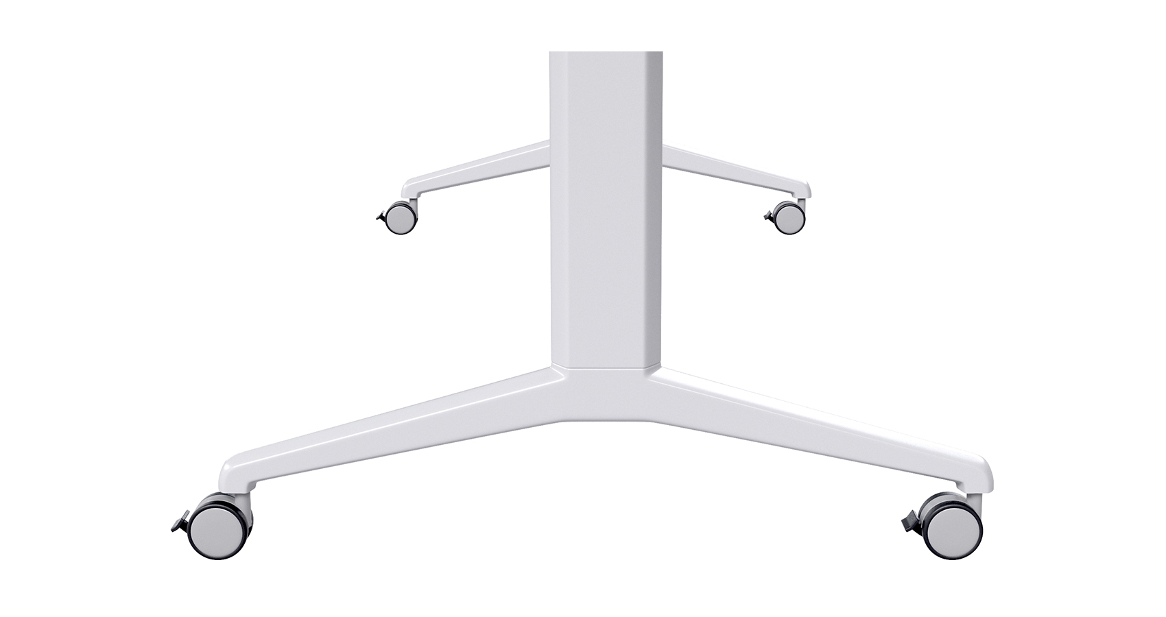 Flip Table Leg Detail White