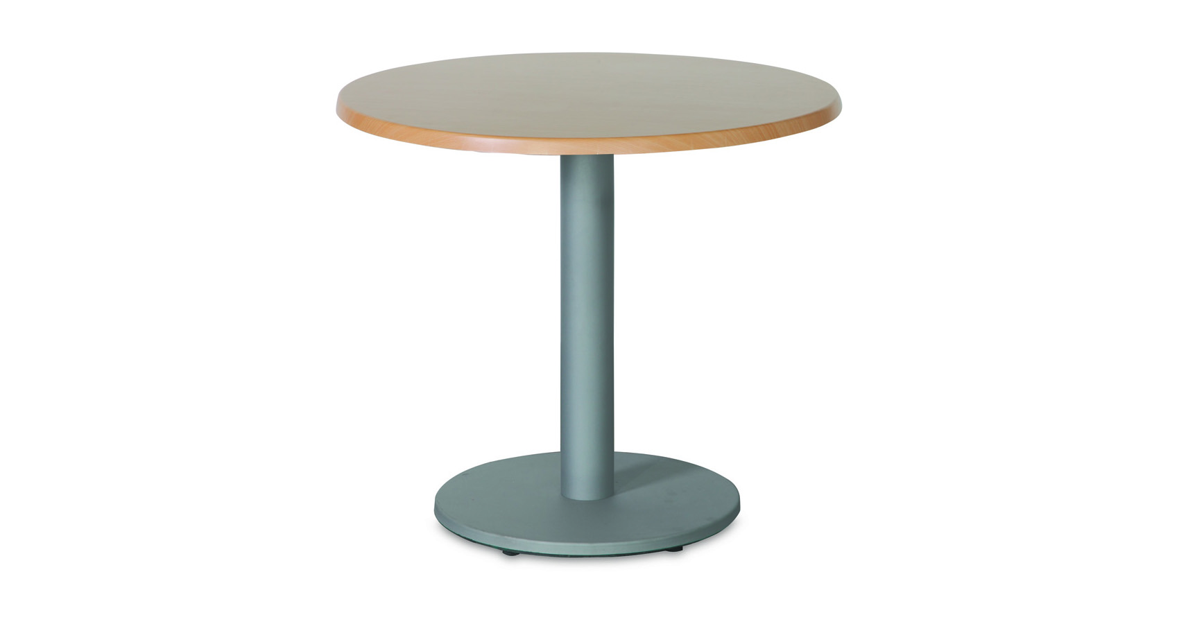 Halo Cafe Table Silver Base Werzalit Top