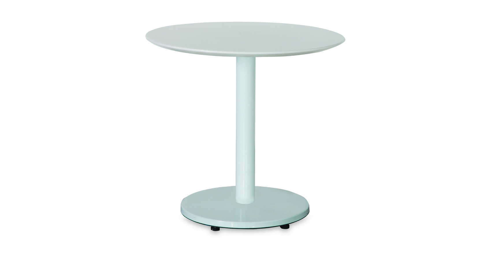 Halo Cafe Table White Base White Acrylic Top