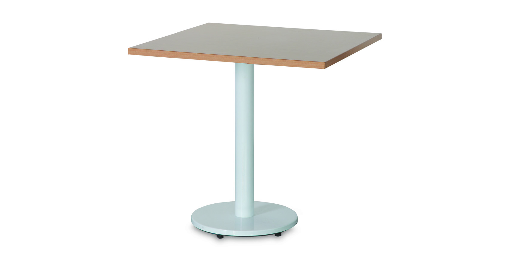 Halo Cafe Table White Base Square Melamine Top