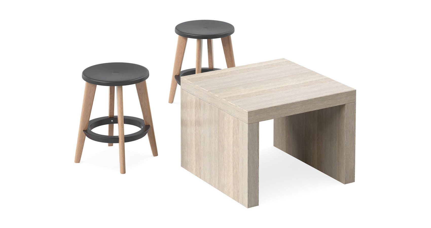 Jive Coffee Table with Pac stools