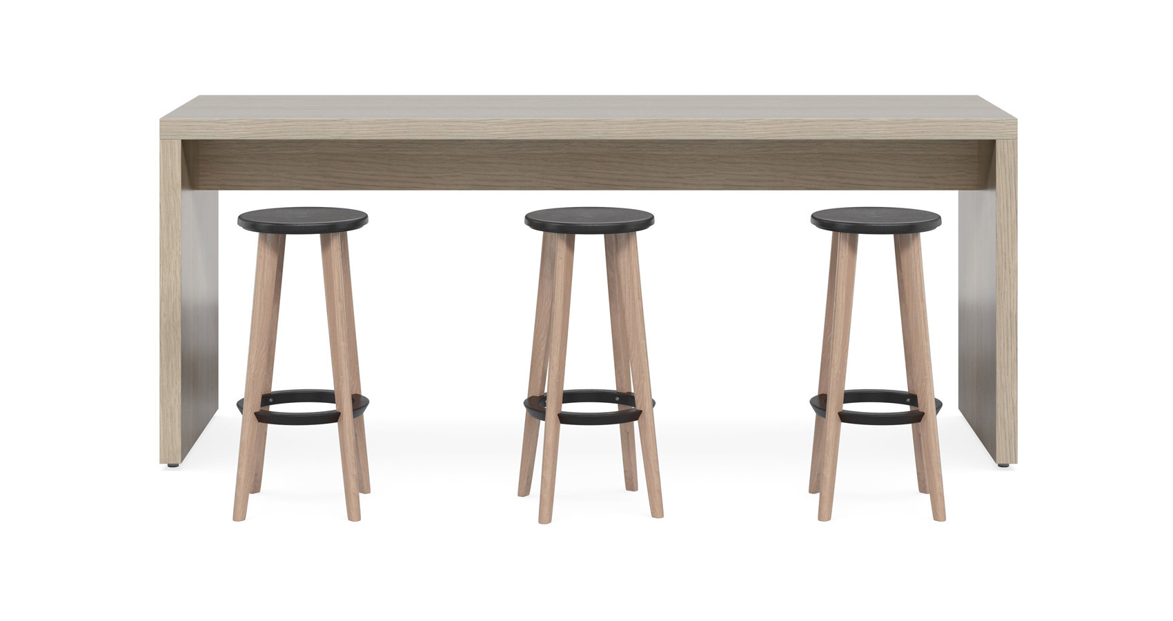 Jive Counter Table with Pac Stools