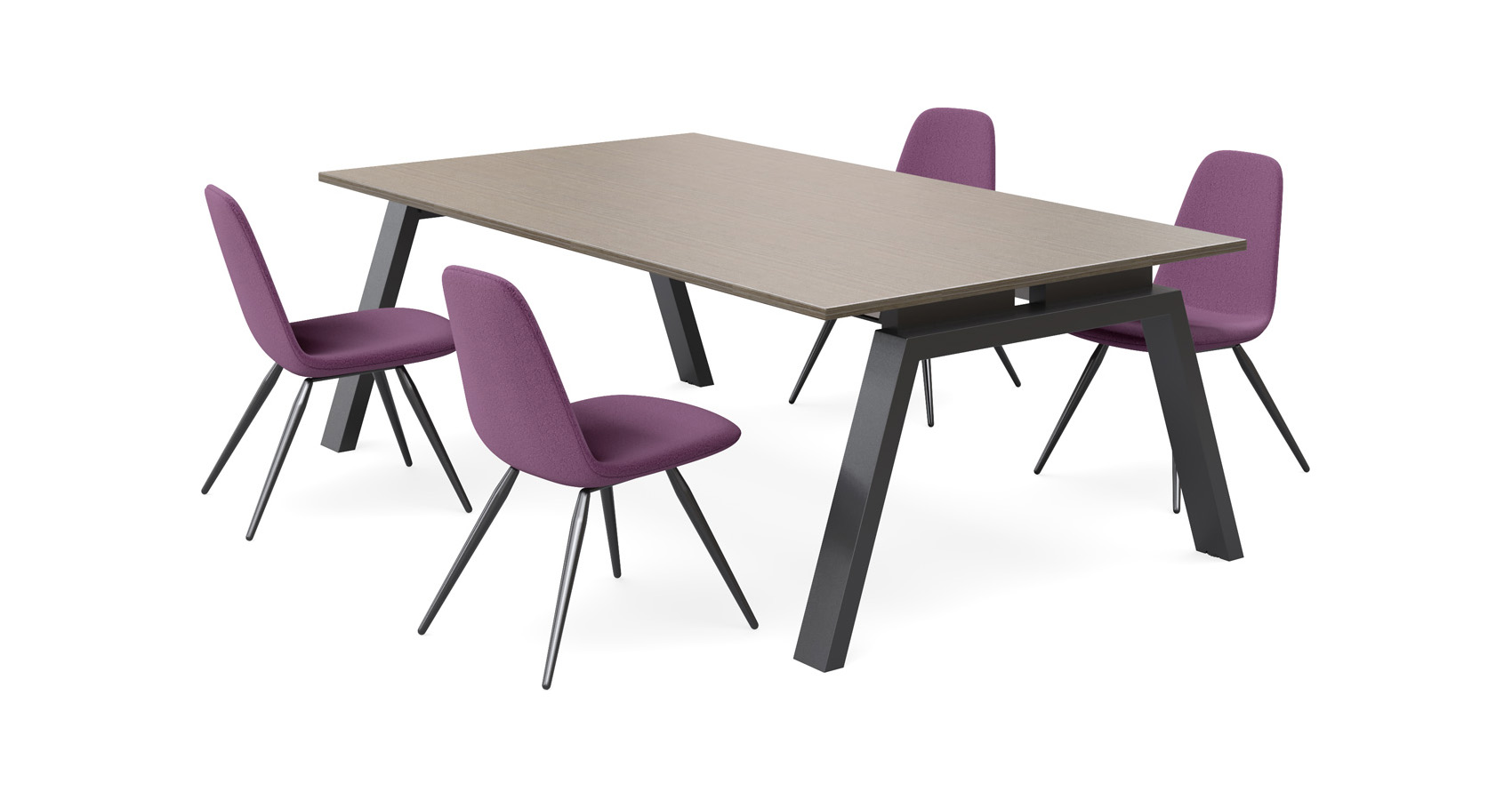 Keywork Meeting Table with Tang chairs