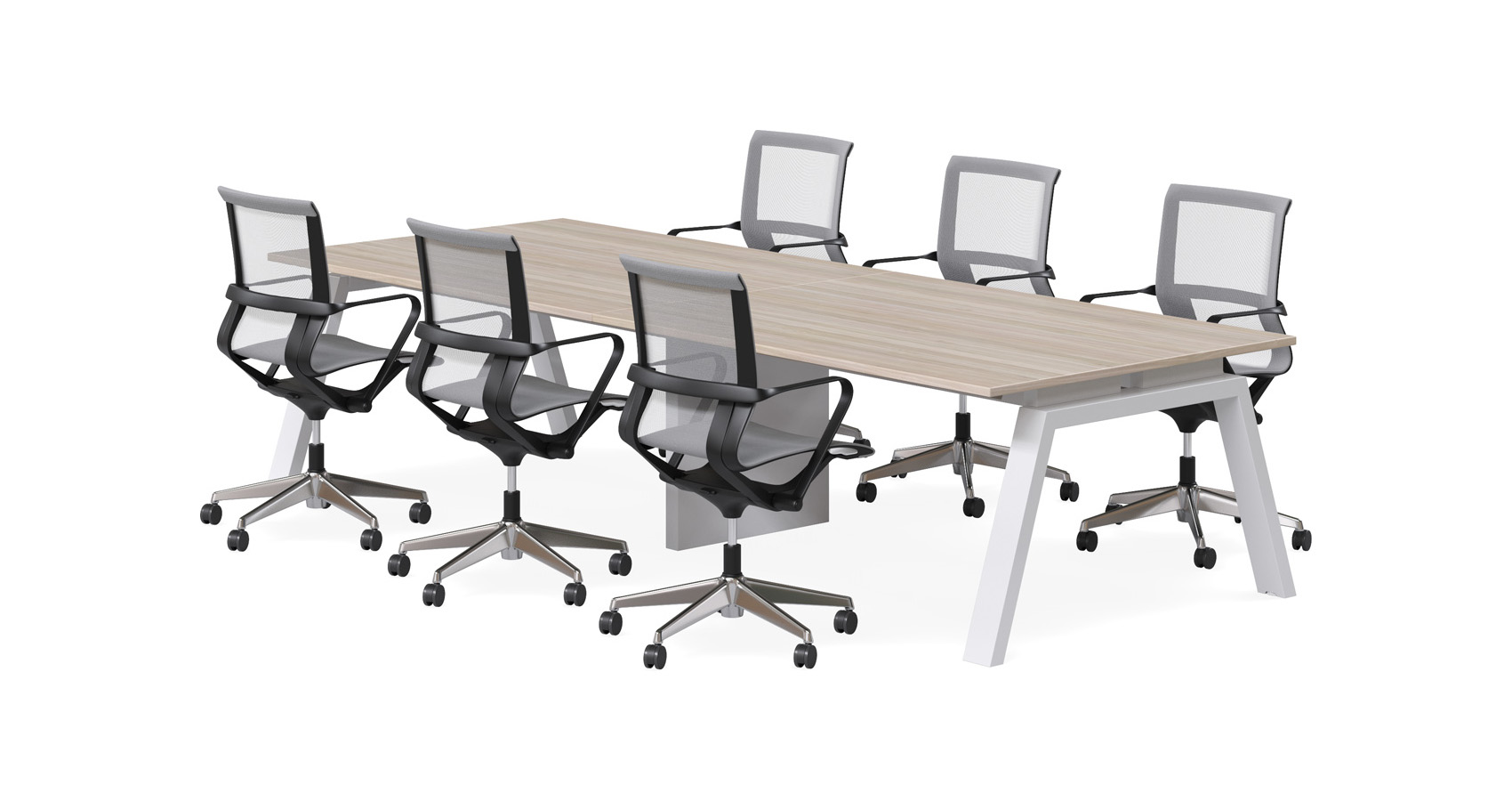 Keywork Meeting 2 piece White Frame and Zed Chairs
