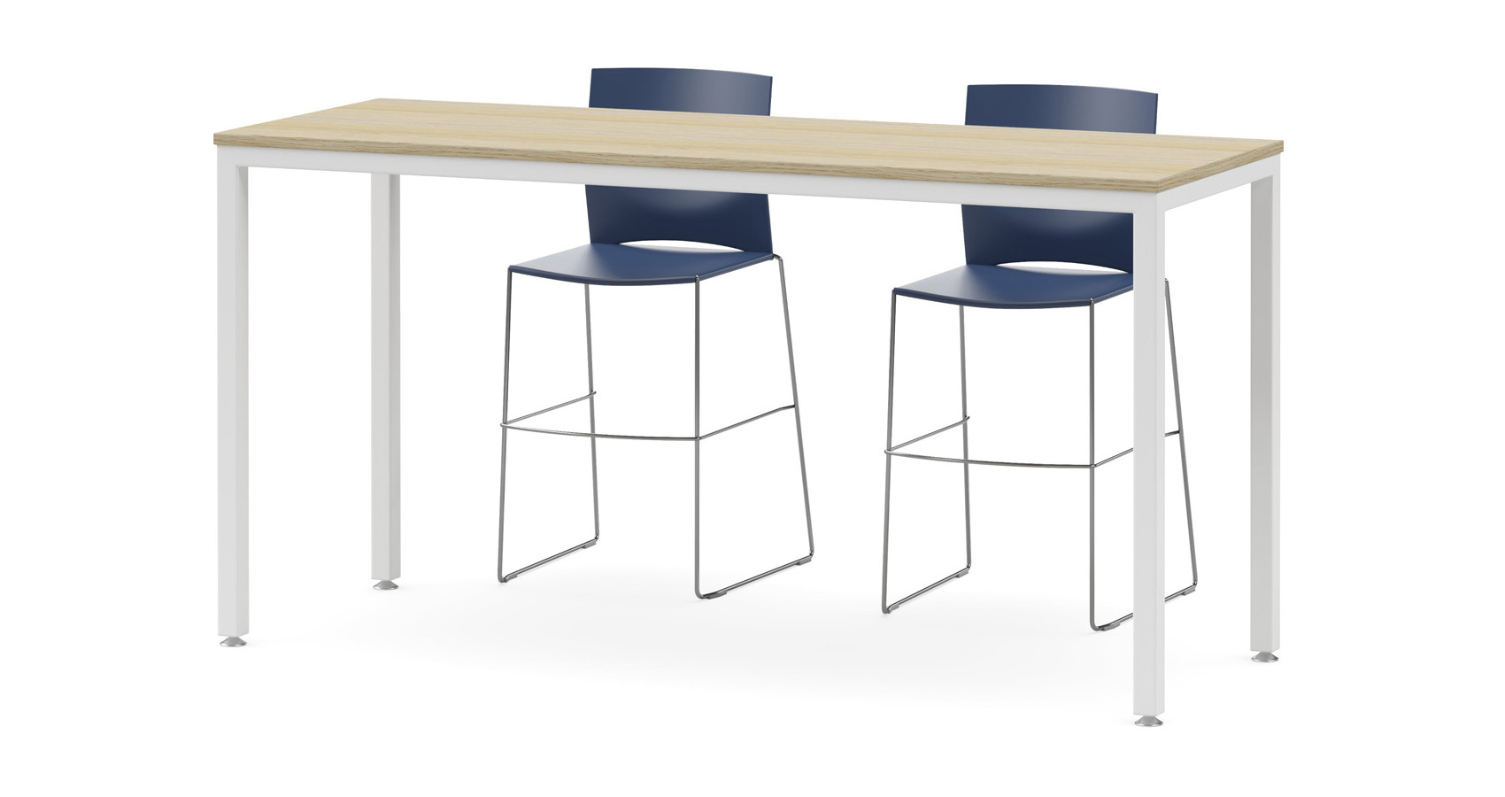 Uno Counter Table with Coda stools