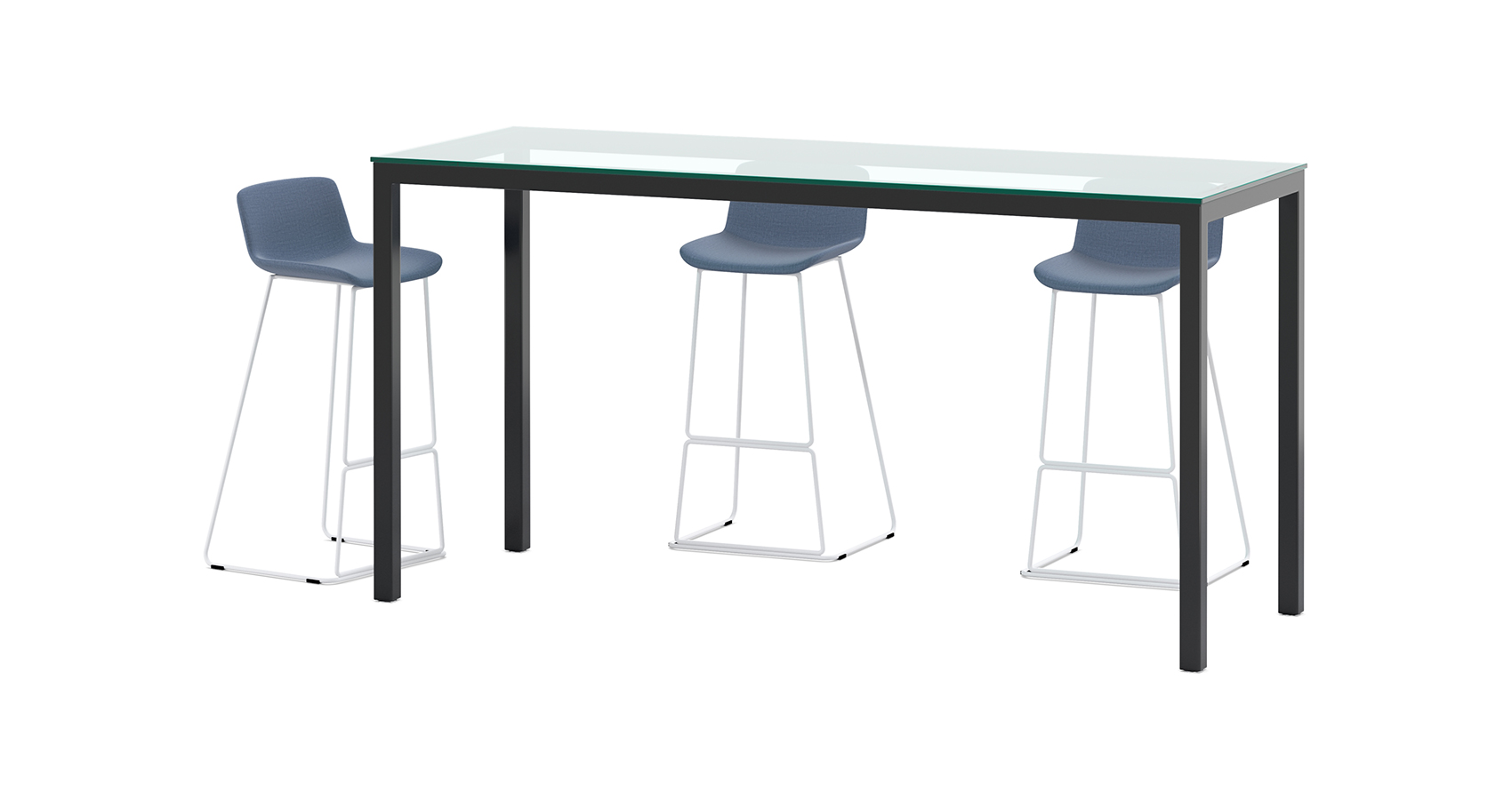Uno Counter Table with Glass top