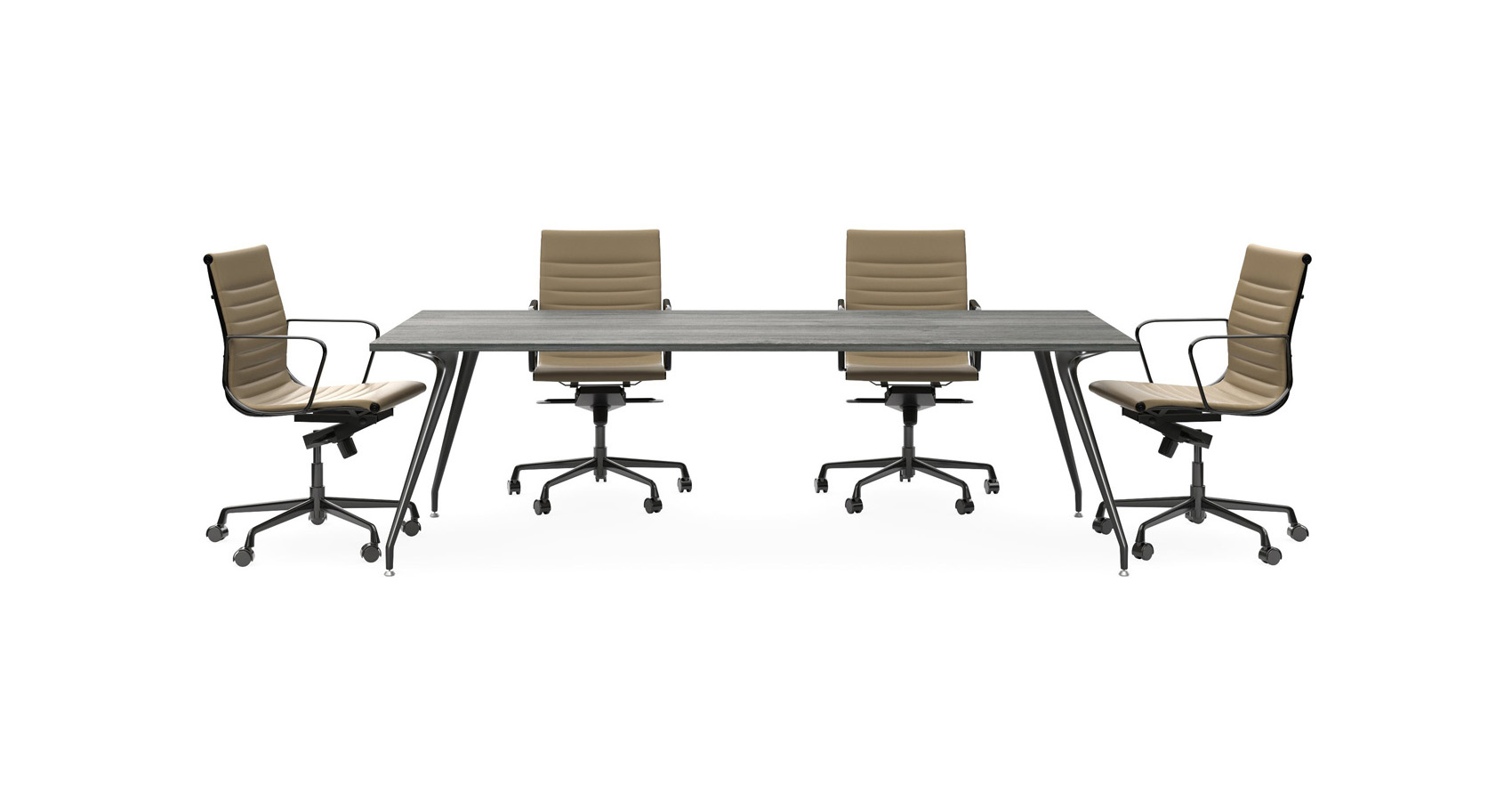 Velo Boardroom Table with Sax Chairs