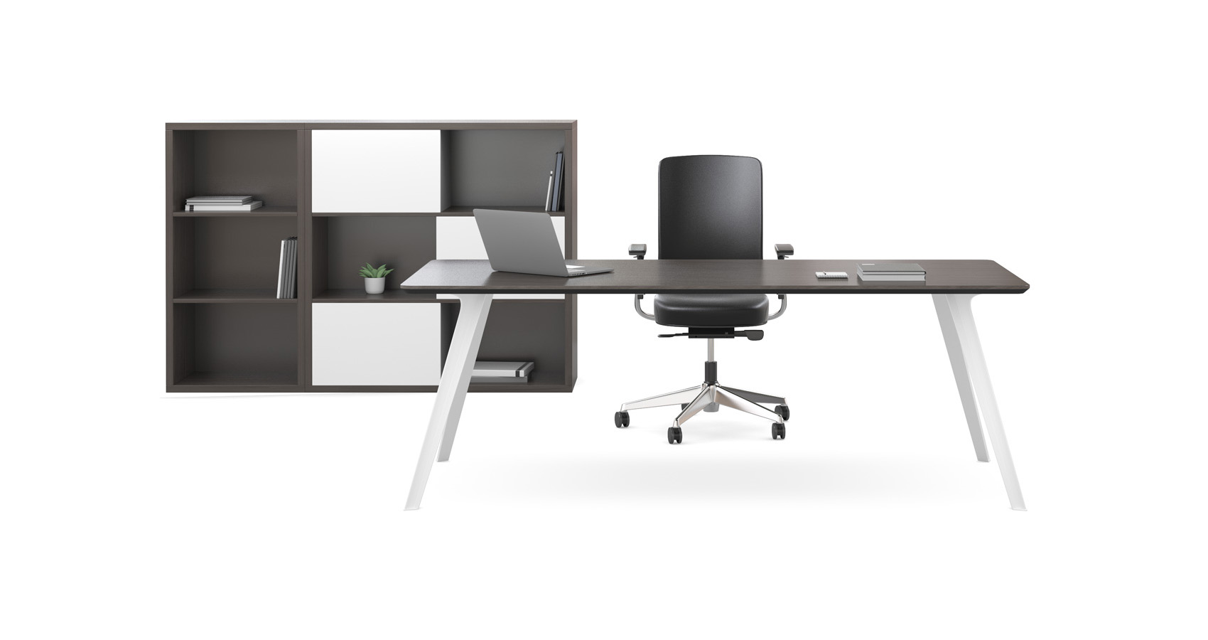 Dart Executive Desk with Storage