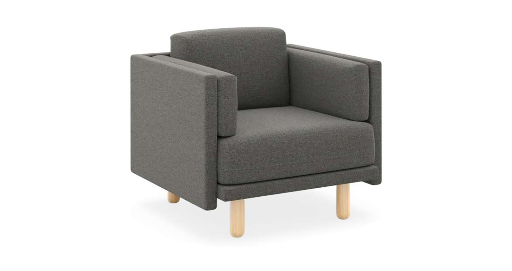 Benj Low 1 Seater Charcoal FV