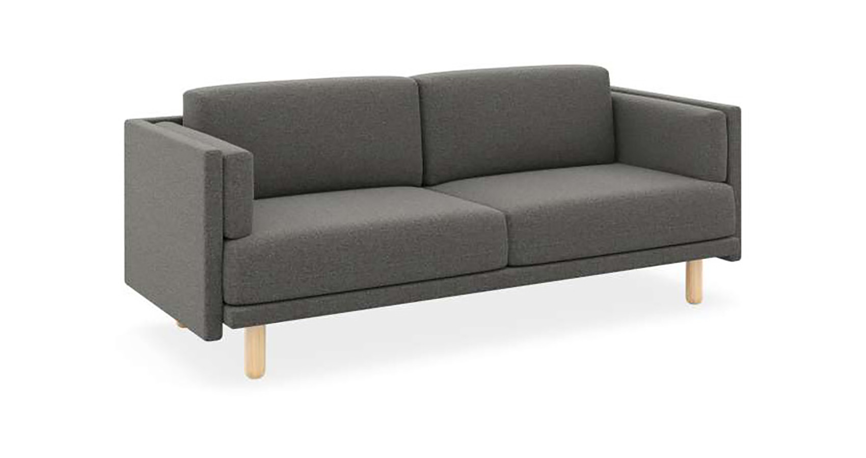 Benj Low 3 Seater Charcoal FV