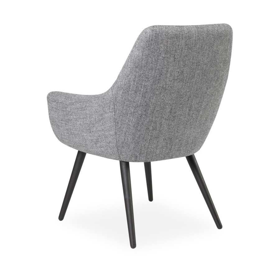 Cooper Chair Black Legs Grey SV