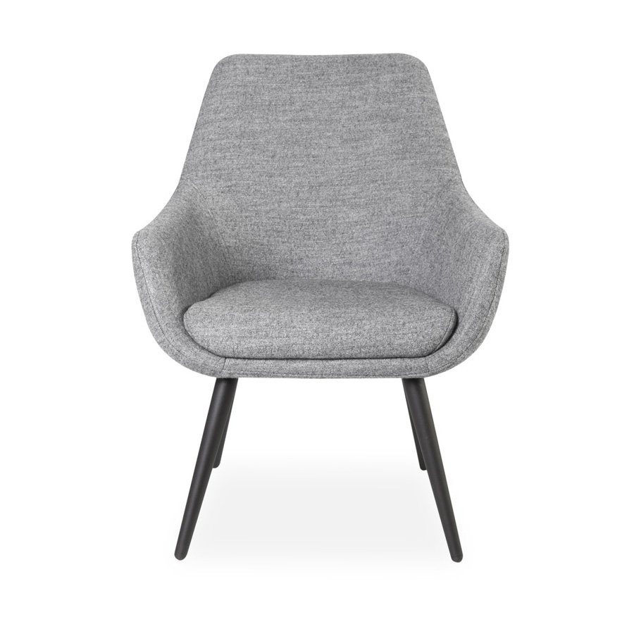 Cooper Chair Black Legs Grey DFV