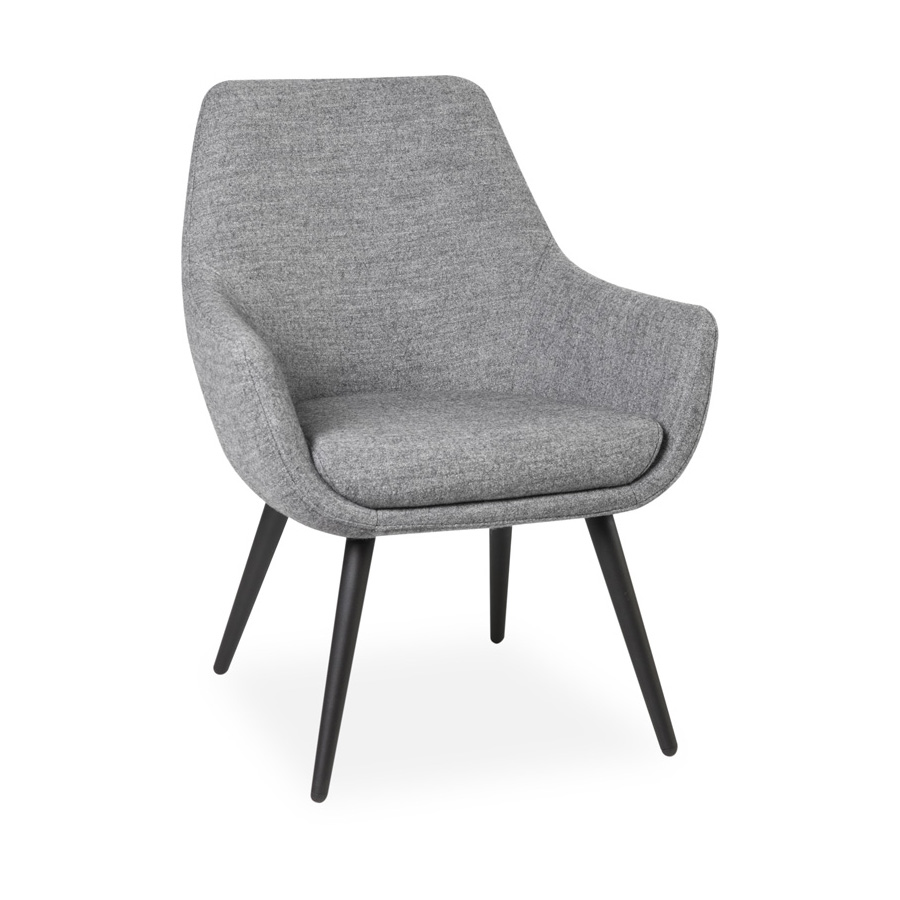 Cooper Chair Black Legs Grey FV