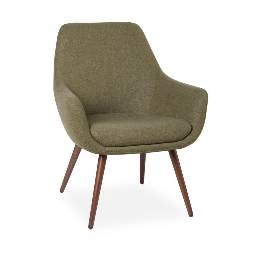 Cooper Chair Walnut Legs Grey FV