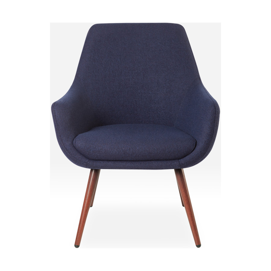 Cooper Chair Walnut Legs Navy DFV