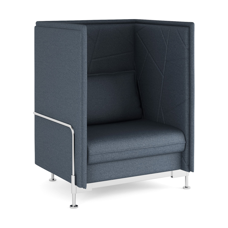 Hush High Back Charcoal 1 Seater FV