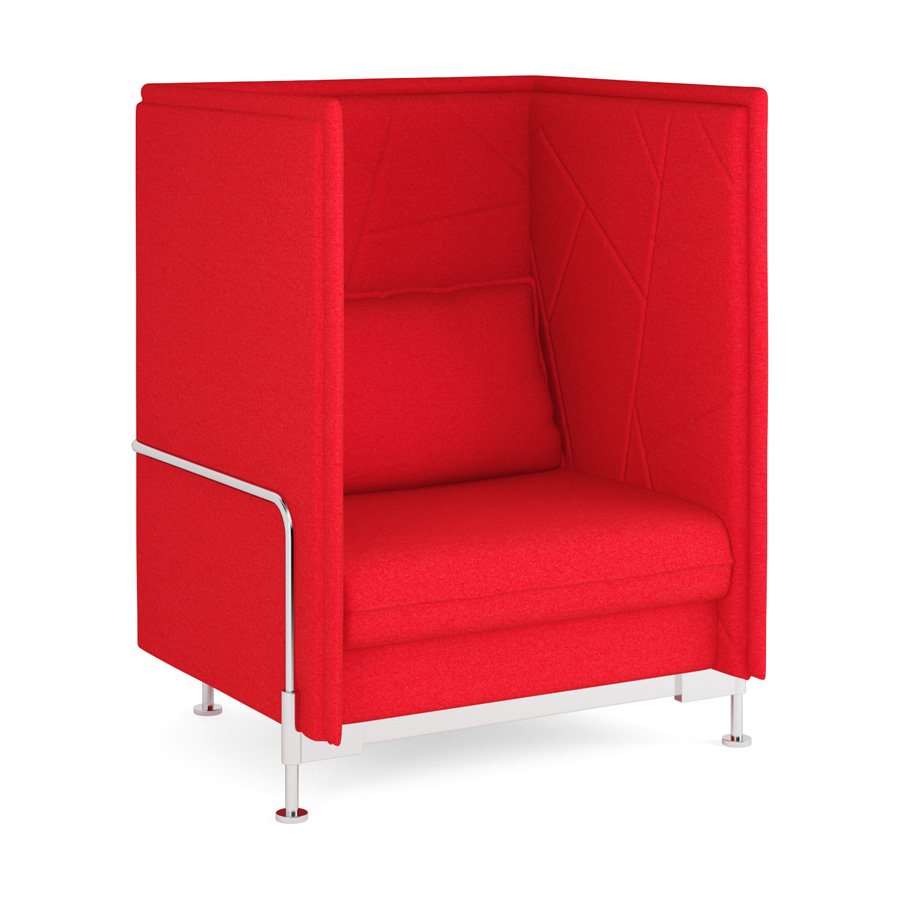 Hush High Back Red 1 Seater FV