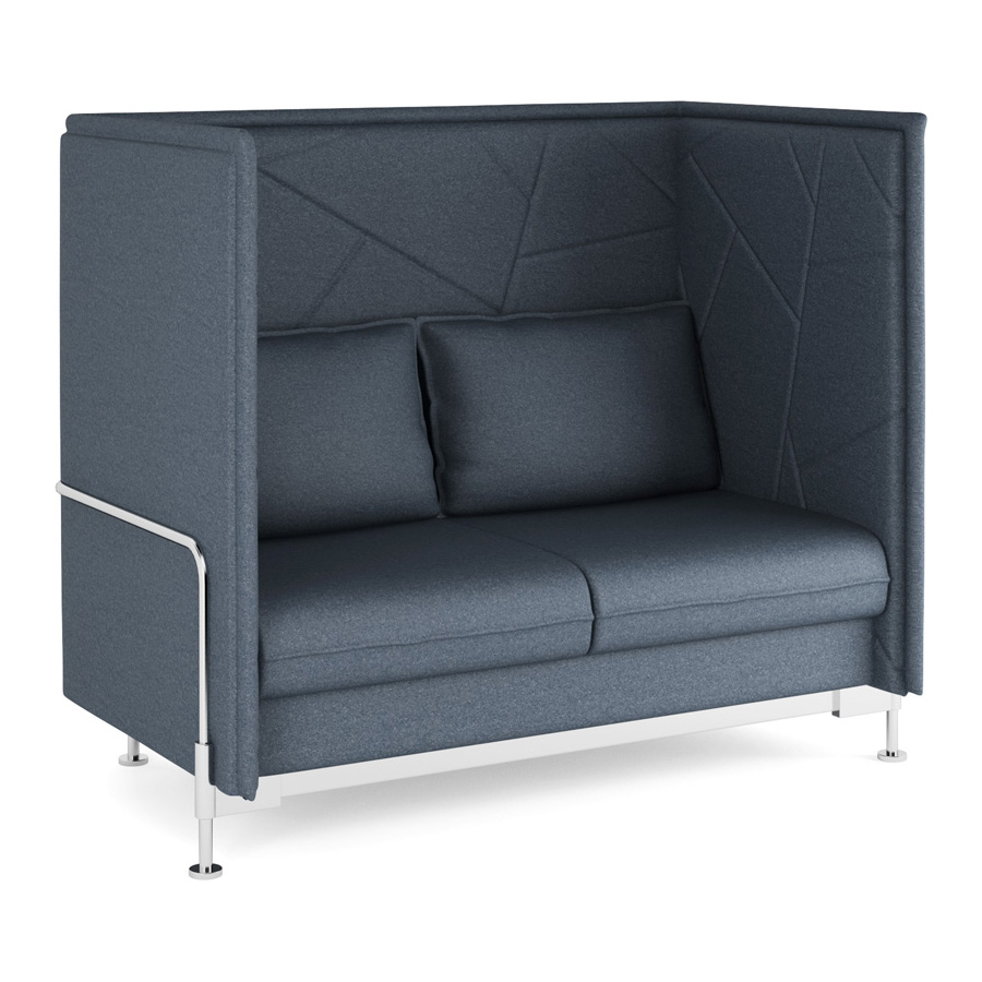 Hush High Back Charcoal 3 seater FV