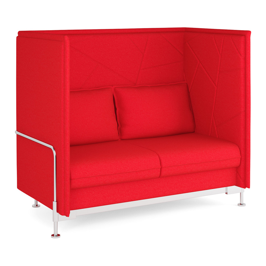 Hush High Back Red 2 Seater FV