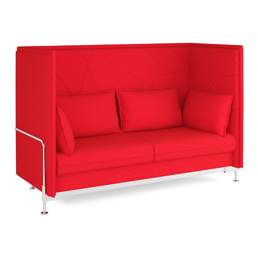 Hush High Back Red 3 seater FV