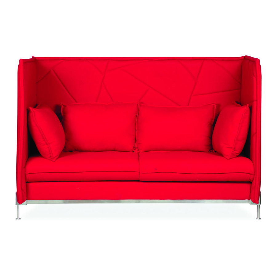 Hush High Back Red 3 Seater DFV