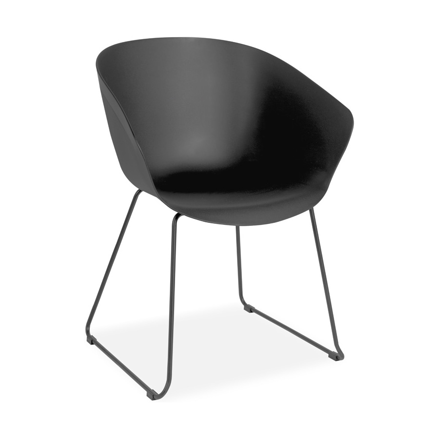 Madi Plastic Chair Black FV