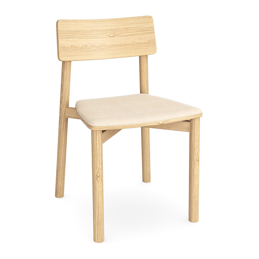 Ted chair Natural FV with Cushion