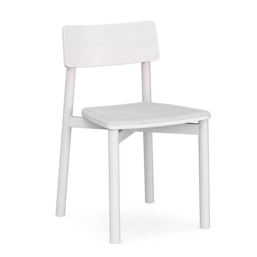 Ted chair White Fv with Cushion