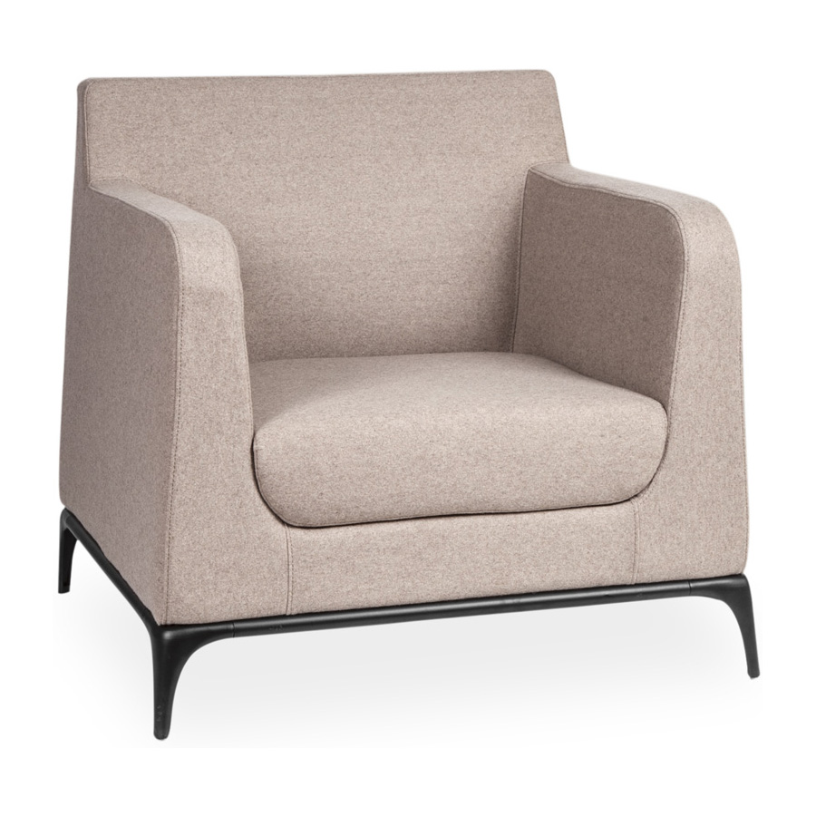 Tex 1 Seater Oatmeal FV