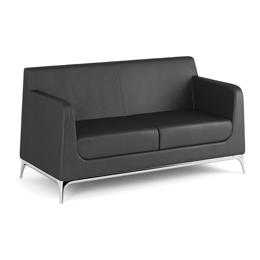 Tex 2 Seater Black Leather FV