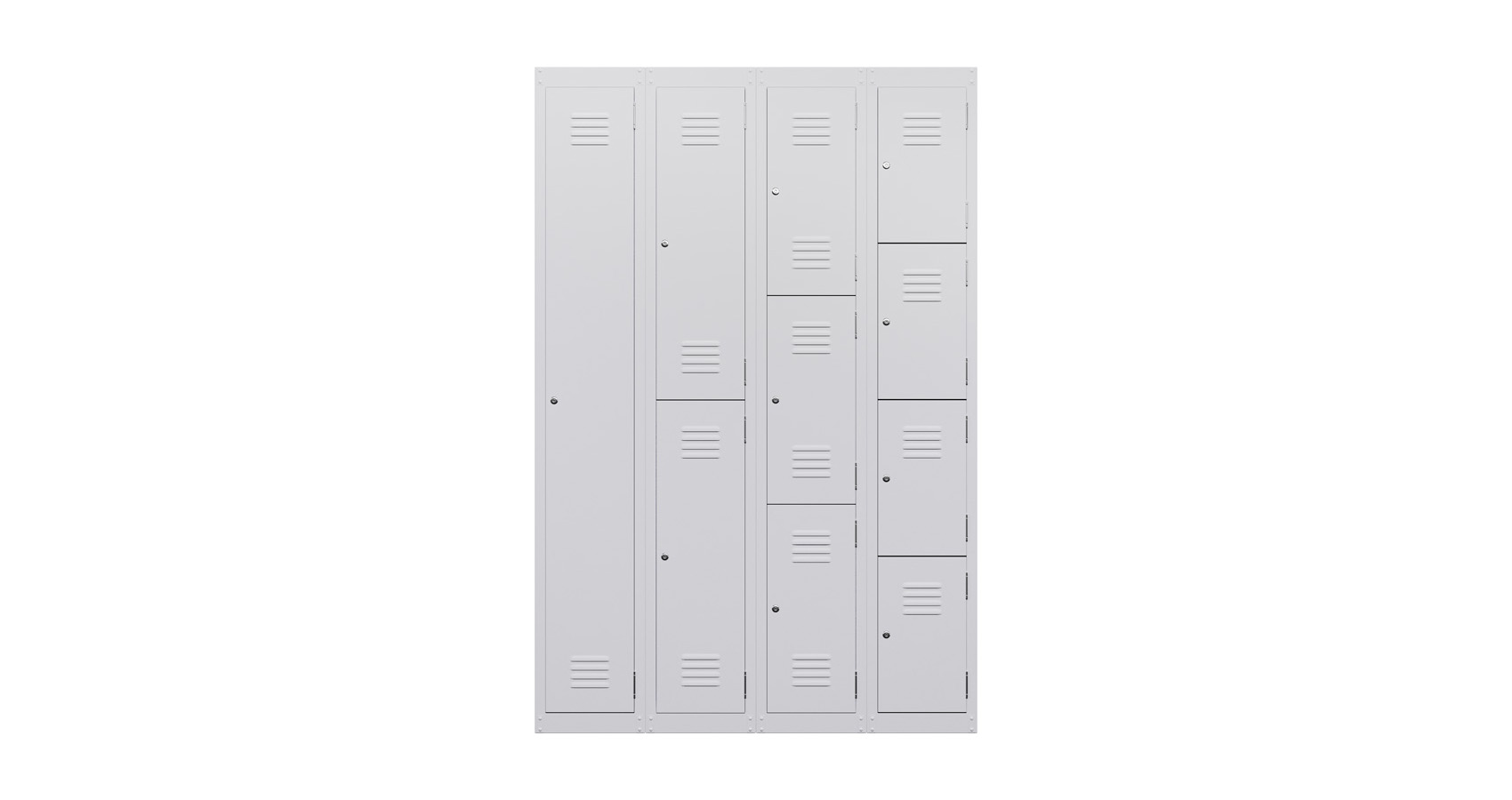 Locker Single Two Door White