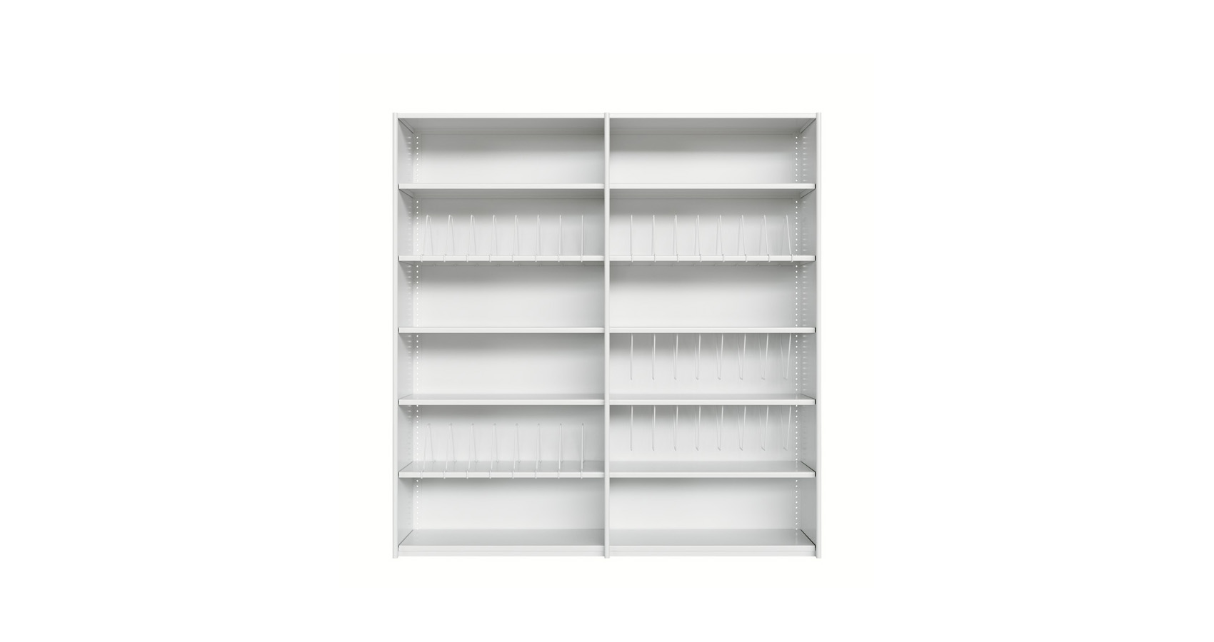 Open Shelving Steel Double Extension