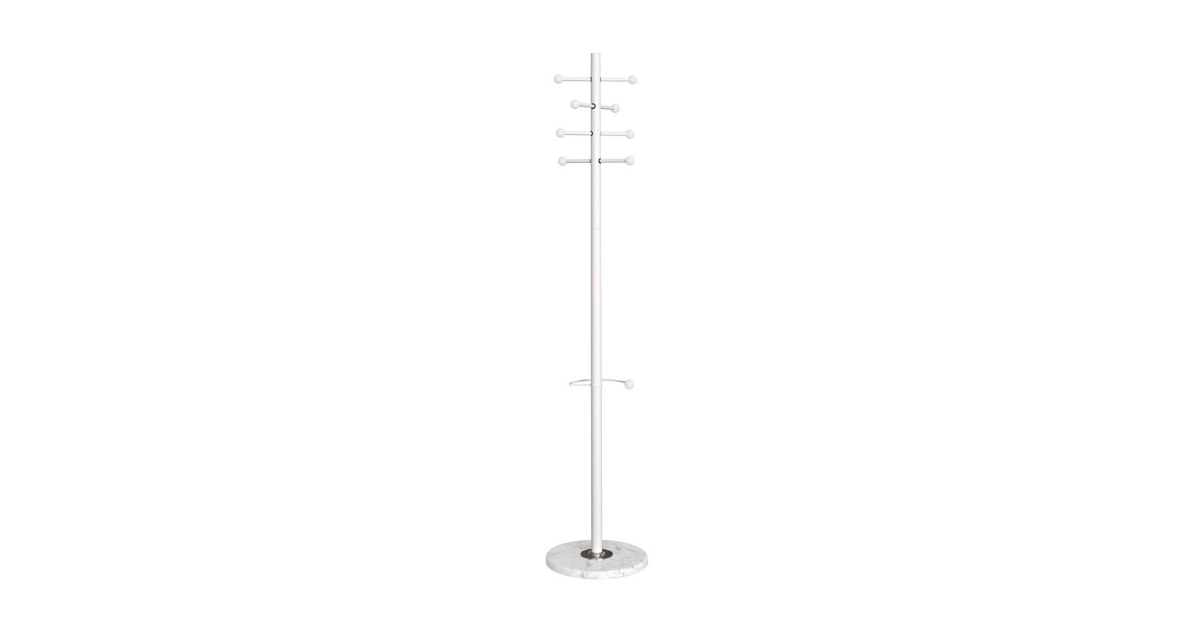 Lunar Coat & Hat Stand-White