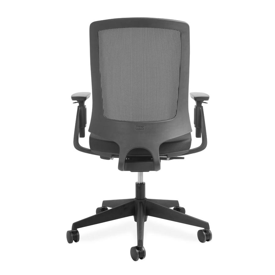 Miro Black Mesh back and Black Fabric Seat DBV