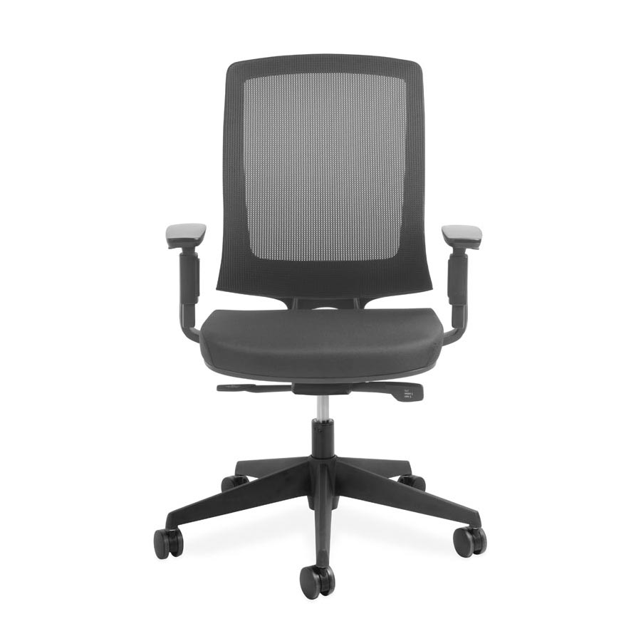 Miro Black Mesh back and Black Fabric Seat DFV