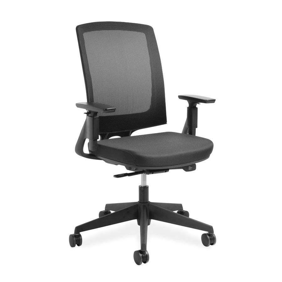 Miro Black Mesh back and Black Fabric Seat FV