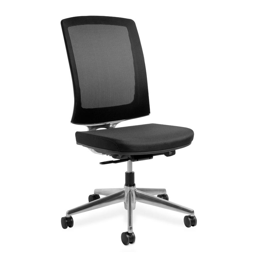 Miro S Black Mesh back and Black Fabric Seat no Arms FV