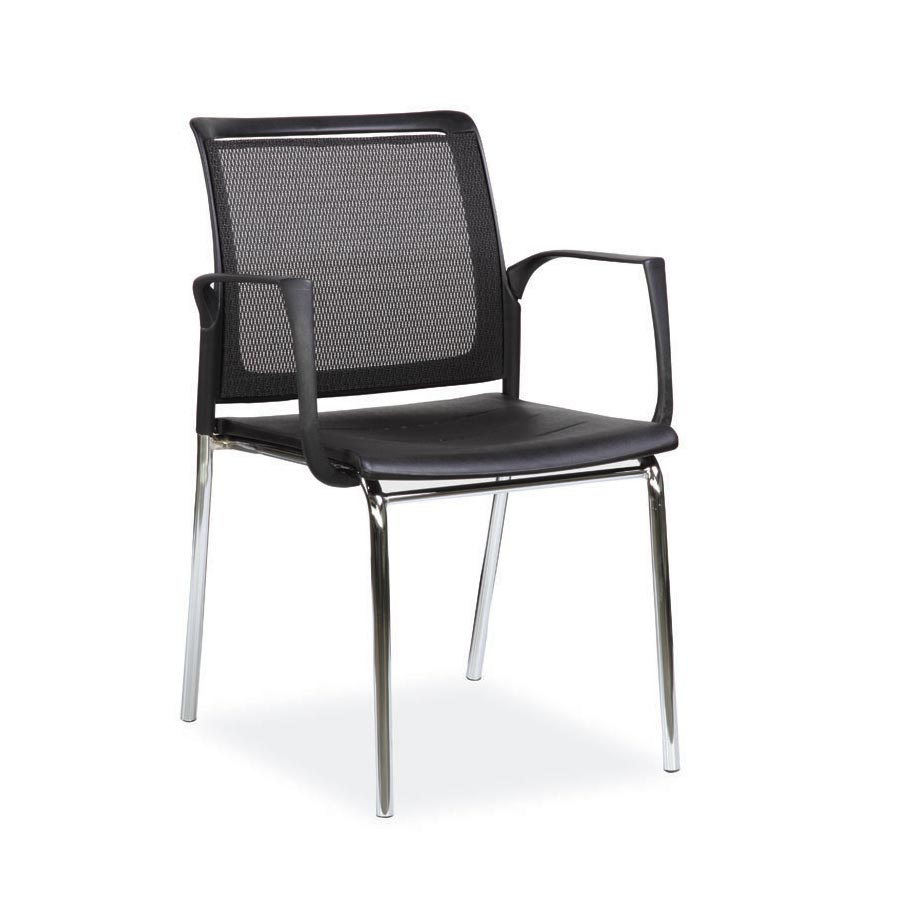 Spider Arm Chair Plastic Seat and Mesh Back FV