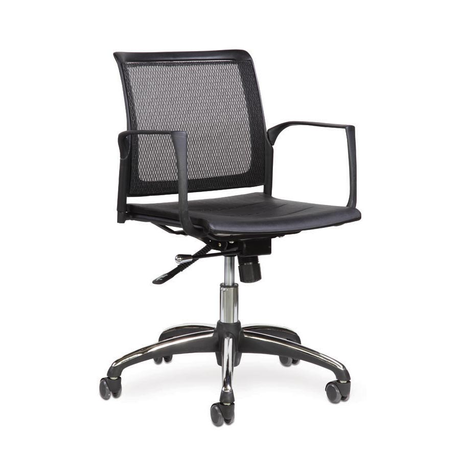 Spider Swivel Chair Plastic Seat and Mesh Back FV