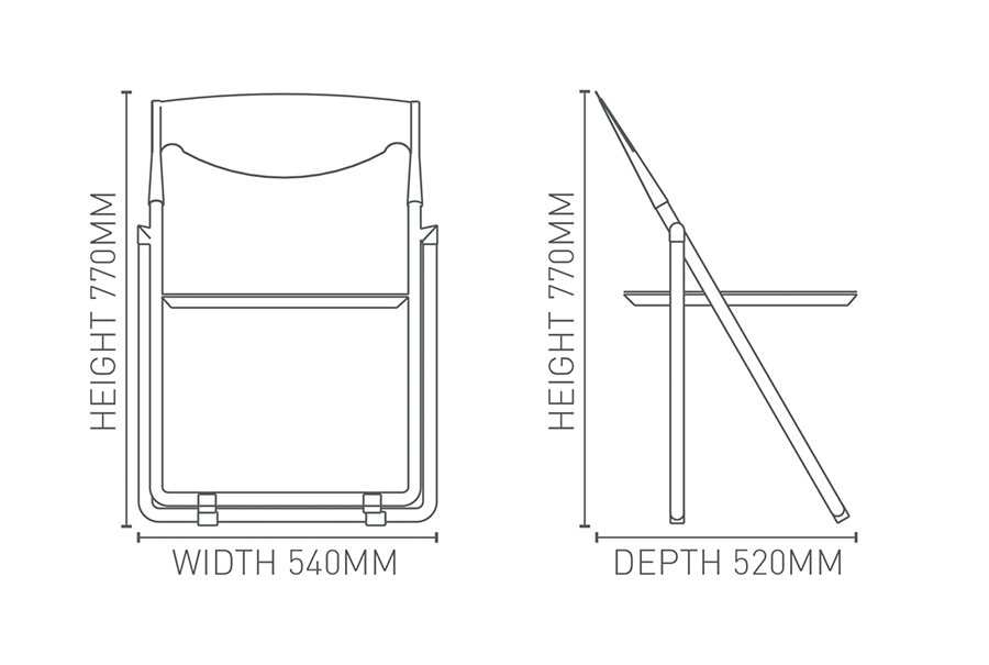 Future Folding Chair Krost Business Furniture